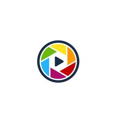 video camera logo icon design vector image