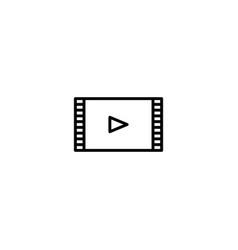 video movie film icon vector image