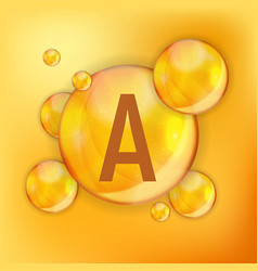 Vitamin a icon antioxidant vector