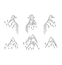 waterfall in mountain vector image