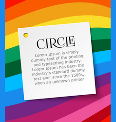 white page of paper for text on summer rainbow vector image