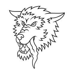wolf tattoo 002 vector image