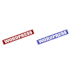 Wordpress blue and red rectangle watermarks with vector