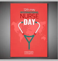 world nurse day vector image