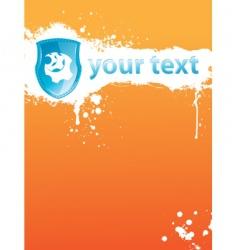 blot orange vector image