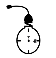 Energy saving bulb Concept of clock vector image