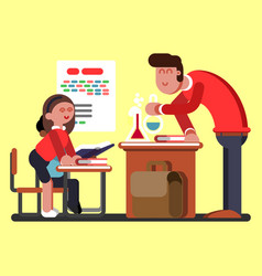 Kids in chemical classes vector