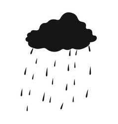 scottish rainy weather icon in black style vector image