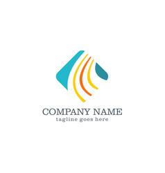 square business finance logo design vector image vector image