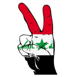 Peace Sign of the Iraqi flag vector image vector image