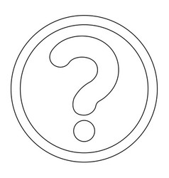 question mark in a circle the black color icon vector image vector image