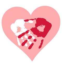 Romantic Valentine postcard vector image vector image