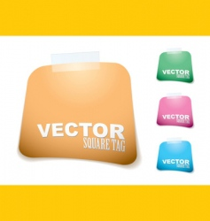 square paper tag vector image
