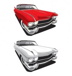 American retro car vector