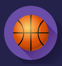 basketball flat icon sport vector image vector image