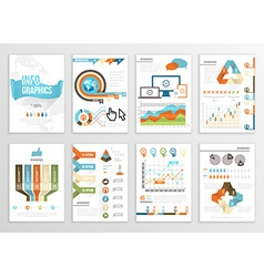 Big set of infographics elements business flyer vector image vector image