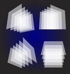 isolated abstract white color transparent squares vector image