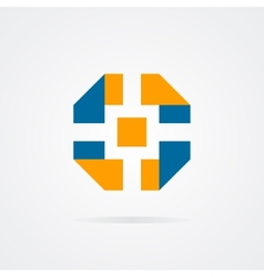 logo of camera shutter vector image vector image