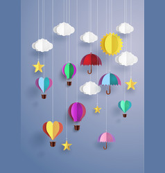 origami decorate hanging vector image vector image