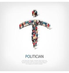 politician people crowd vector image vector image