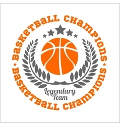 Basketball championship logo set and design vector image vector image