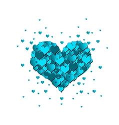 Blue heart vector image