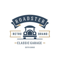 classic car logo template design element vector image vector image