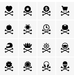 Danger icons vector image vector image