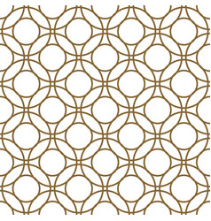 gold and white overlapping circles seamless vector image vector image