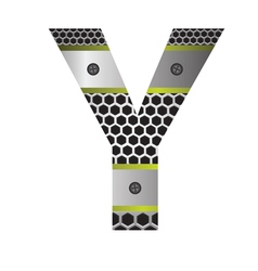 Perforated metal letter y vector