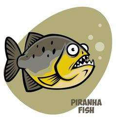 piranha fish vector image