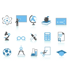 simple education icon blue series vector image