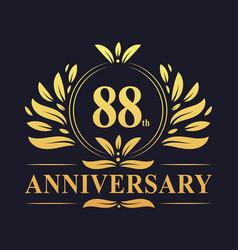 88th anniversary logo 88 years anniversary design vector