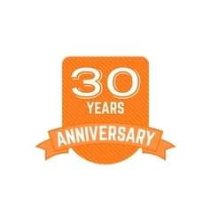 Anniversary badges signs and emblems collection vector image