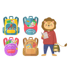 Back to school concept colorful banner vector