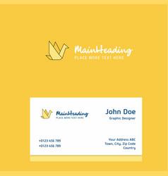 bird logo design with business card template vector image