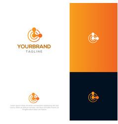 block chain logo template vector image