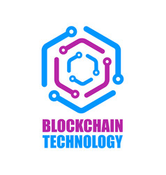 blockchain technology icon smart contract vector image