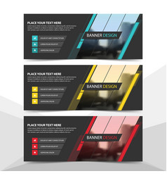 Blue red yellow corporate business banner vector
