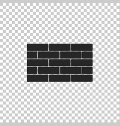bricks icon isolated on transparent background vector image