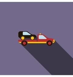 Car evacuator icon in flat style vector image