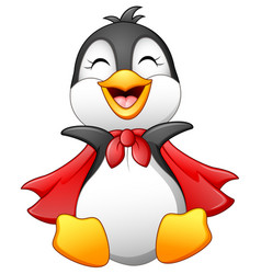 Cartoon happy penguin isolated on white background vector