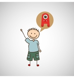 child with toy icon vector image