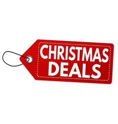 Christmas deals label or price tag vector