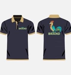 Color men polo shirts vector
