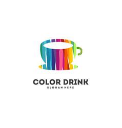 Colorful mug logo designs concept drink vector
