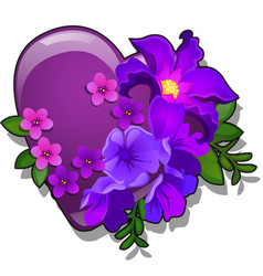 decor form heart purple color decorated vector image