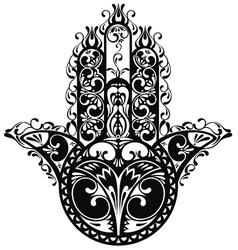 Decorative hamsa vector