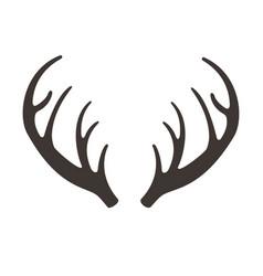 Deer horns antlers vector