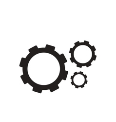 Flat icon in black and white gears vector